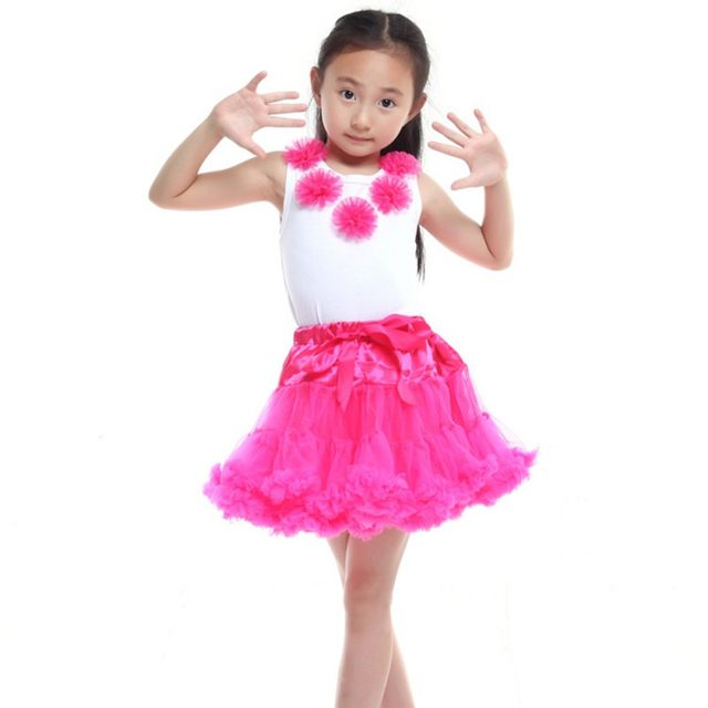 Children Fluffy Chiffon Pettiskirts Baby Tutu Skirts Girls Clothing Dance Party Tulle Skirt 0 8 Ys Ballet Maxi Dresses