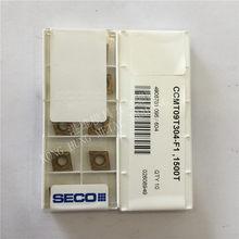CCMT09T304-F1 1500t original seco inserções de carboneto torneamento ferramentas torno 10 pçs/lote