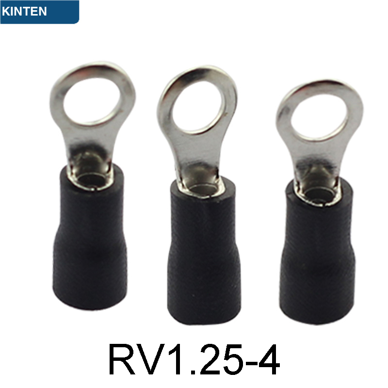 RV1.25-4 round pre-insulated tip small opening nose copper nose cold pressure terminal block a pack to sell