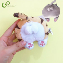 Plush Toy Cute Plush Cat Ass Coin Purse Hairy Cartoon kitten Cat Ass Plush Toys for Children Animal Dool GYH(China)