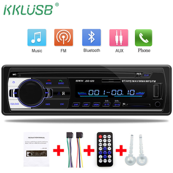 Car Radio  jsd 520 12V Bluetooth Car Stereo In-dash  1 Din FM Aux Input Support Mp3/MP4 USB MMC WMA AUX IN TF auto audio Player