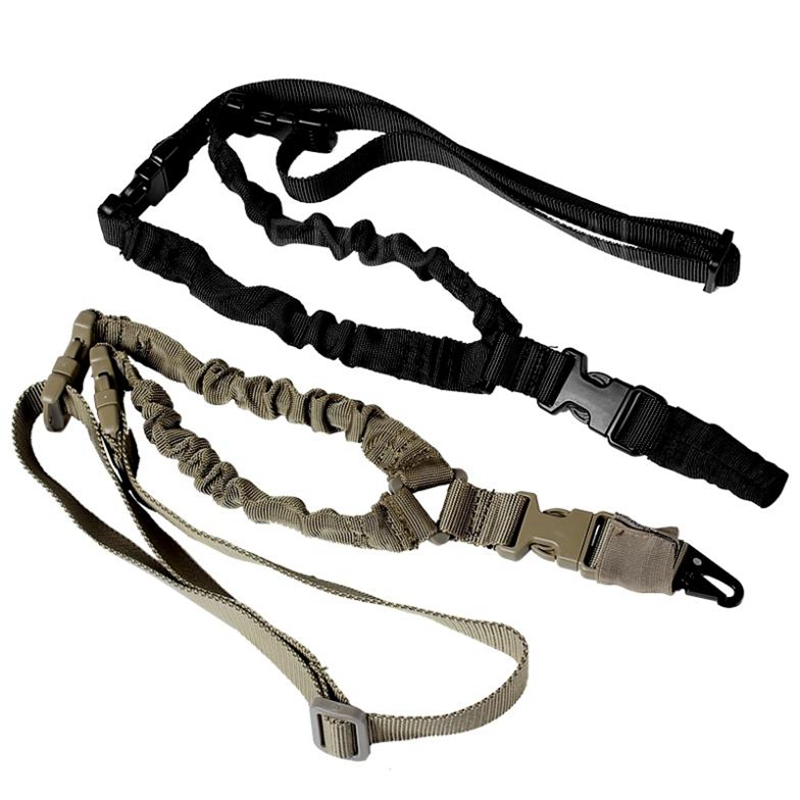 USA Tactical Gun Sling Adjustable 1 Single Point Bungee Rifle Strap System for Airsoft Hunting Military