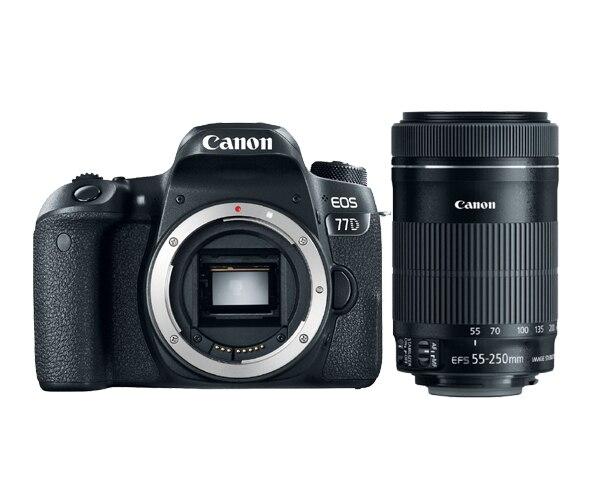 Canon 77D Boîtier D'appareil Photo reflex numérique et EF-S 55-250mm f/4-5.6 IS STM Lentille