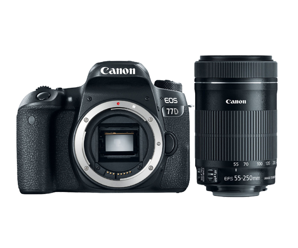 Canon 77D DSLR Camera Body & EF-S 55-250mm f/4-5.6 IS STM Le