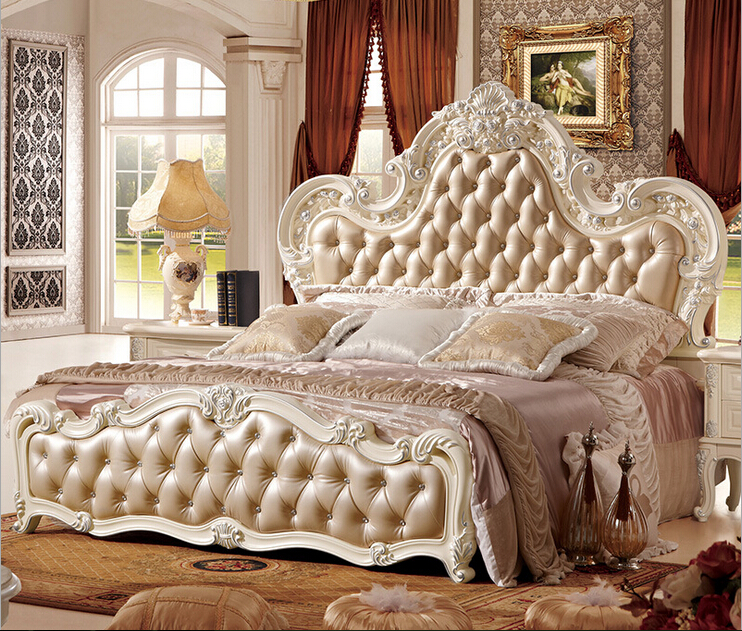 Made In Foshan High End Leather Bed