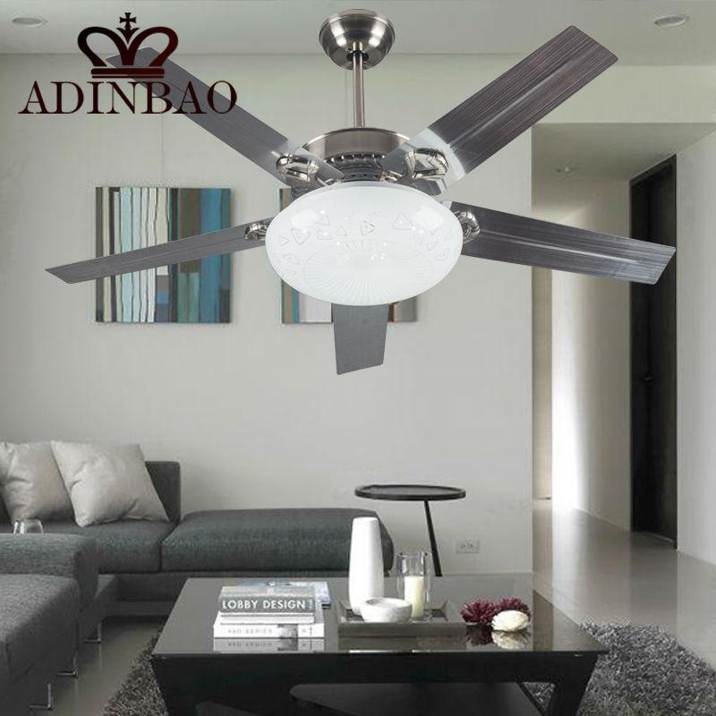 modern stainless steel ceiling fan electric remote contral fans xj078