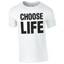 CHOOSE LIFE T-Shirt - Retro Disco WHAM 80s Fancy Dress Music Fan Mens Gift Top Short Sleeve Men O-Neck Tee Shirt free shipping disco collection 80s