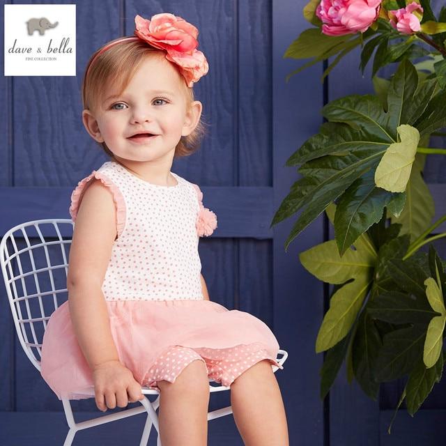 4dcfbba8f375d DB4352 dave bella yaz bebek kız tatlı giyim setleri çocuklar şık giyim  toddle bez setleri çocuk