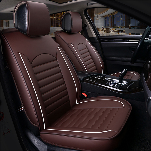 9pcs Universal Luxury Automobiles Seat Covers Wearable Leather Car