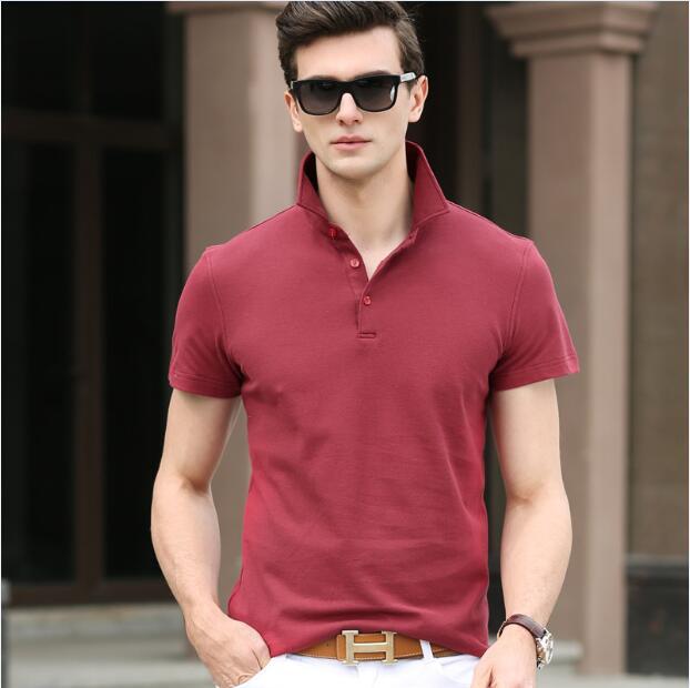 2016 Neueste Kausale Stil Männer Sommer Einfarbig 100% Baumwolle Kurzarm Polo Shirt In Vielen Stilen