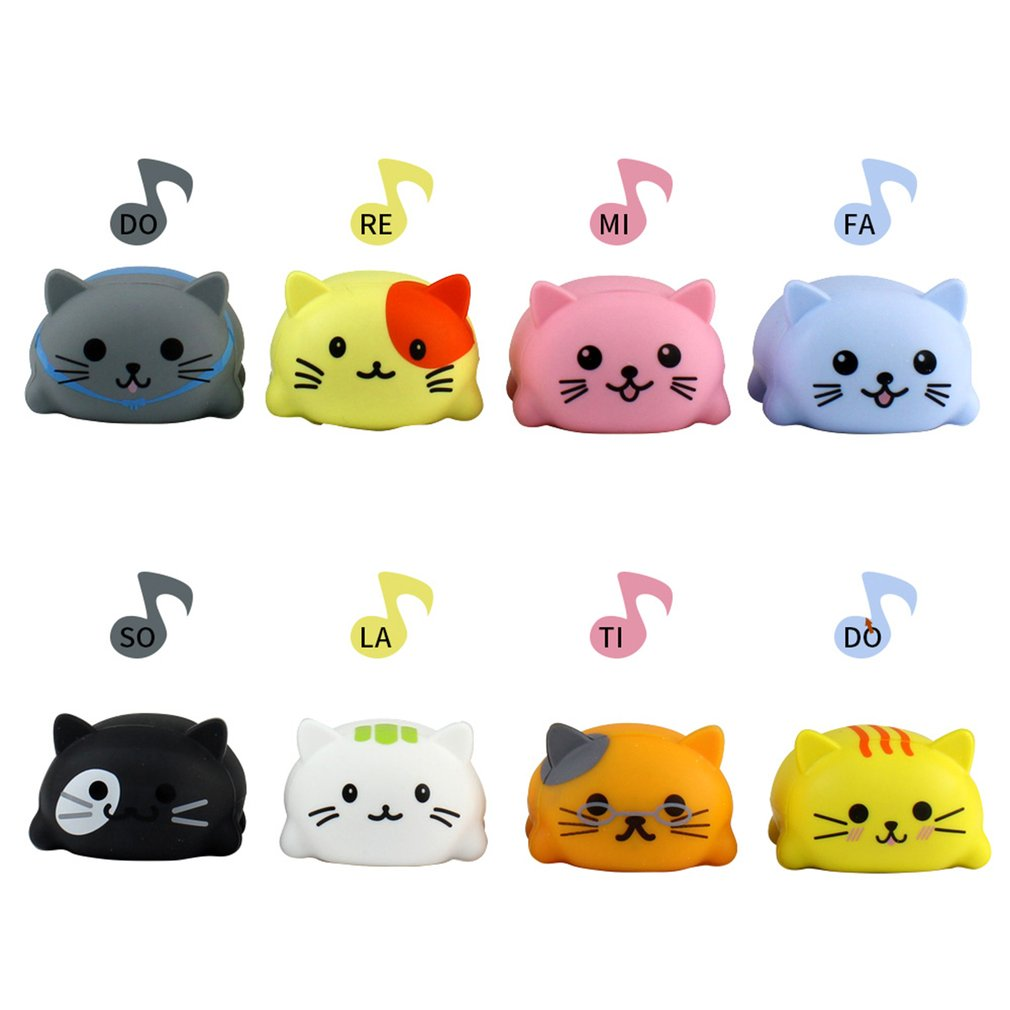 8Pcs/Set Baby Kids toy Musical Scale Touch Sensitive Cat Dog Electric Player Piano Funny Silicone Animals Educational Toy gifts