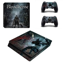 Bloodborne Vinyl Decal PS4 Slim Skin PS4 S Sticker for Sony Playstation Console System & 2 Controller Stickers Cover