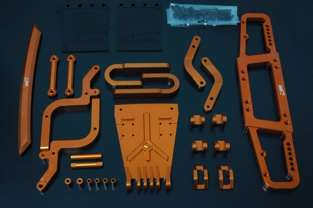 baja 5T 5SC alloy bumper set orange color for HPI KM ROVAN купить