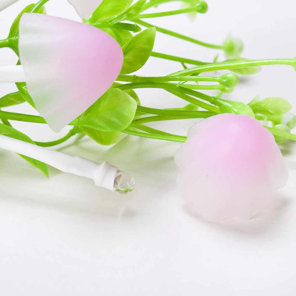 Романтический красочные изменения случайно Сенсор светодиодный гриб ночник Настенный светильник загорается автоматически украшения дома 23May 30