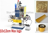 10x13cm Pneumatic Hot Foil Stamping Machine Foil Roll Stamping Mold Sticky Tape Branding Machine On Paper