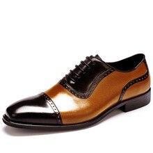 QYFCIOUFU Square Toe Men Dress Shoes Genuine Leather Man Business Formal Lace-up Shoes Large Size British Handmade Shoes US 11.5