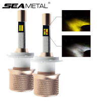 Dual Color 2X 4800LM 12 24V Car LED External Lights Headlight Bulbs H1 H11 H4 H7