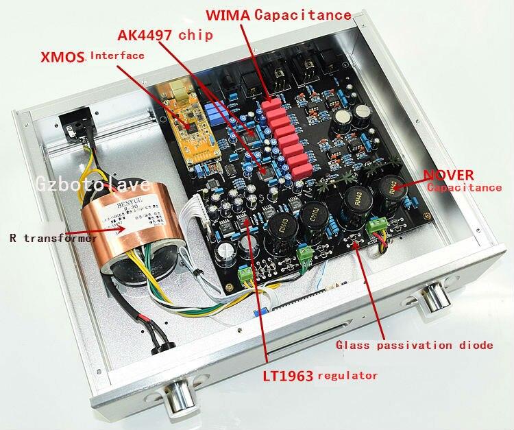 все цены на NEW luxury Dual AK4497EQ balanced decoder DAC fiber coaxial USB input supports DSD онлайн