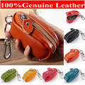 New Arrival Men's & Women's Genuine Leather Car Key Holder Keychain Key Case Hanging Wallets Promotion Gifts Y1888