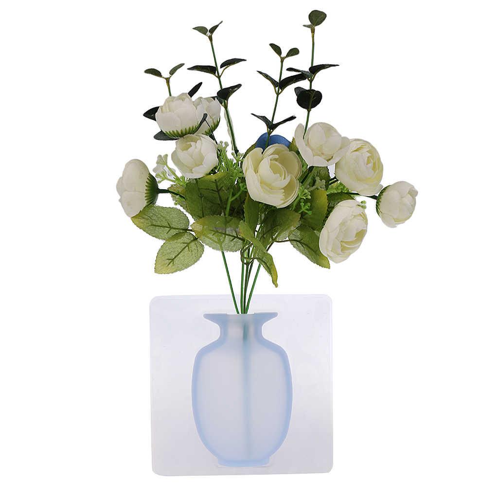 مزهرية معلقة صغيرة لتزيين المنزل مصنوعة من السيليكون بتصميم سحري-نباتات عباد الشمس