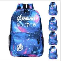c415a446289b4 New Comics Marvel Movie Captain America Avengers School Bag Flash Star  Luminous Backpack Fans Bags Teenager