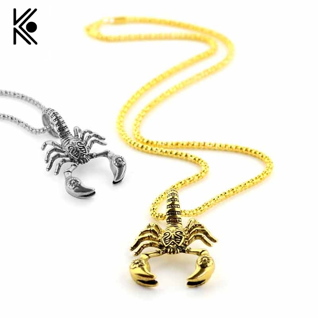 Hot scorpion pendants cool necklaces alloy pendent animal hot scorpion pendants cool necklaces alloy pendent animal scorpions fashion men and women jewelry scorpio insect mozeypictures Images