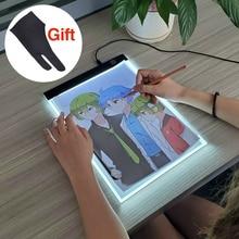 LED Light Box Drawing Tablet Graphic Pad Tracer Writing Painting Ultra-thin Copy Board Artcraft Sketch Digital Hotfix Rhinestone цены
