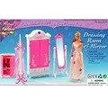 Комплект мебели чехол для барби автоаксессуары дом розовый барби мечта шкаф с гардеробной зеркало вешалки