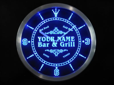ncu-tm Name Personalized Custom Family Bar & Grill Beer Home Neon Sign LED Clock Wholesale Dropshipping
