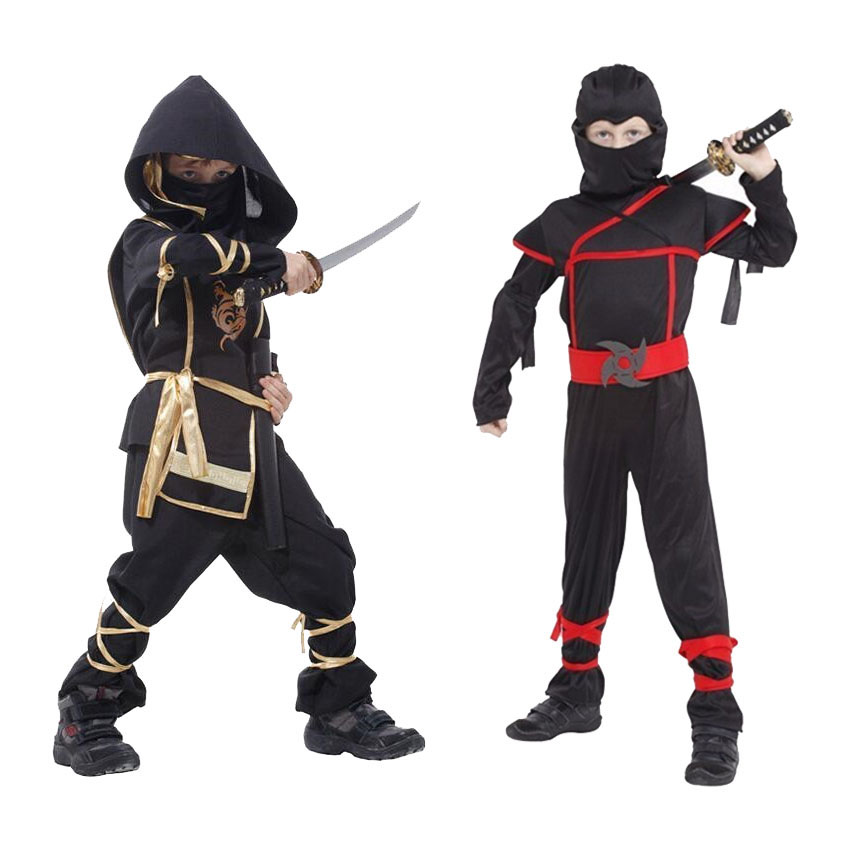 Naruto Halloween Fancy Ninja Cosplay Costumes Children Assassin Christmas Comic-con Japanese Style Kids Boys Clothing Set