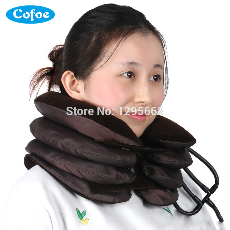 Cofoe Inflatable Neck head Pain Relief traction Cervical Collar Neck Support Brace medical neck support orthosis adjustable cervical collar device fixed traction braces vertebra rehabilitation head protection