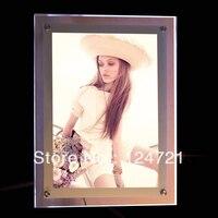 Cristal LEVOU Iluminado Photo Frame/Wall mounted quadro levou caixa de luz de acrílico para a exposição de publicidade