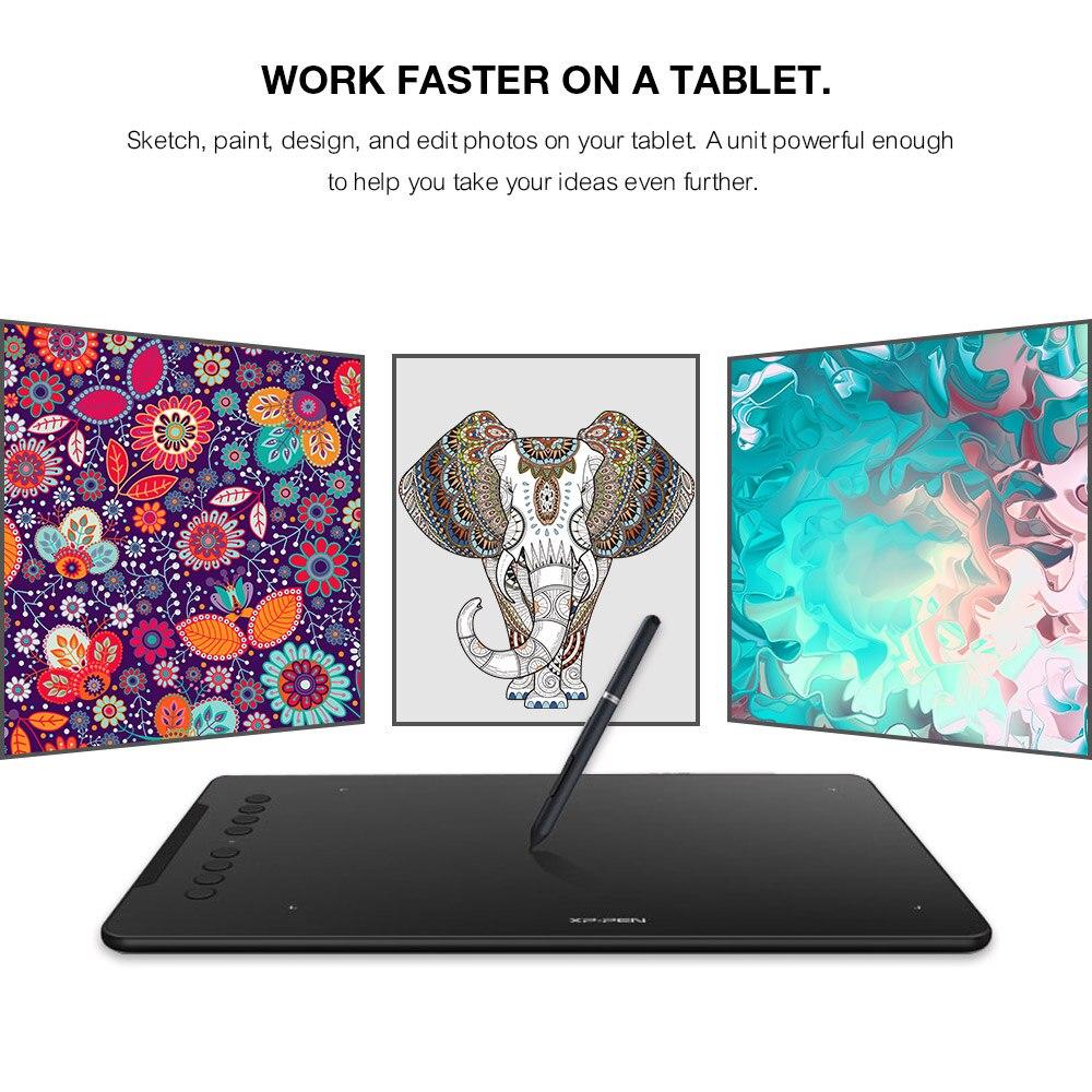 Grafiken Zeichnung Tablet XP Stift Digitale Tablet Deco 01 Grafik Tablet 8192 ebenen Malerei Bord Batterie-freies Stylus Großhandel