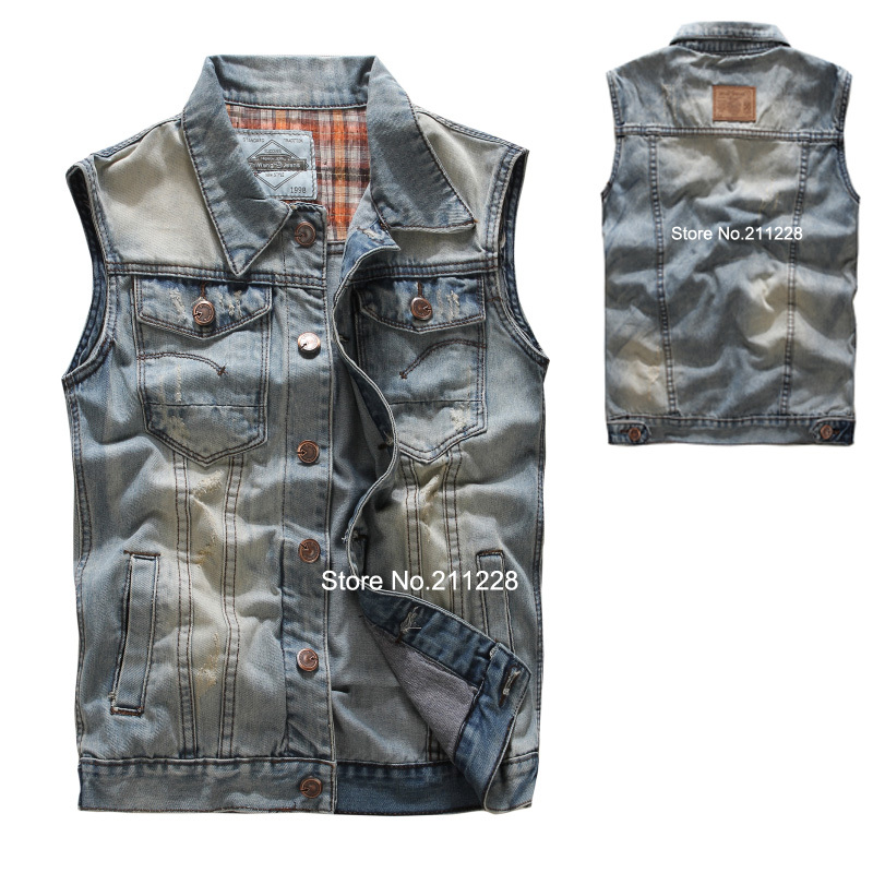 Mens Jean Jacket Vest - Coat Nj