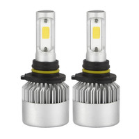 Car Headlights Super Bright 2PCS 9006 LED 120W 12000LM Combo Headlight High 6000K 6500K White Kit