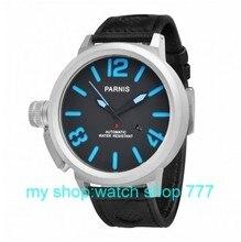 55 мм Большой циферблат PARNIS мужские часы Автоматические механические часы зеленый Номер часы оптом 2016 новая мода