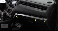 Lapetus Stainless Steel Central Control Instrument Panel Decoration Cover Trim For Honda HRV HR V Vezel 2014 2015 2016 2017
