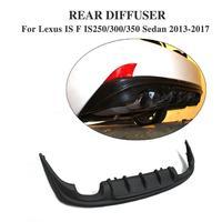 ПУ Неокрашенный Черный задний диффузор для губ Бампер протектор для Lexus IS F IS250 IS300 IS350 седан 2013 2017 двойной выпускной два выхода