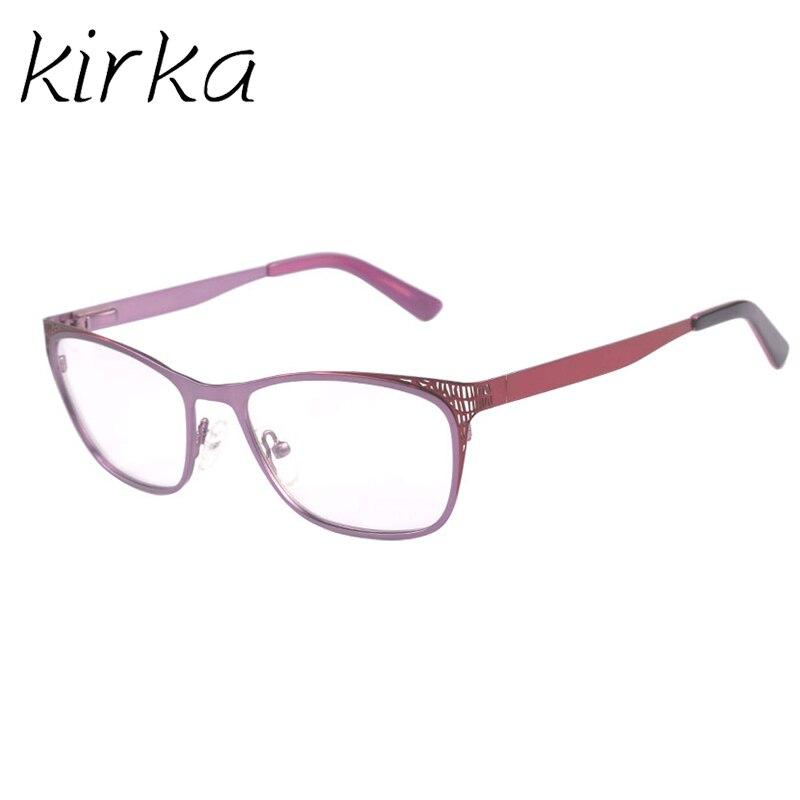 3b5c2b3b04 Kirka Purple Vintage Eyeglass Frames For Women Optical Glasses Eye Glass  Frame Big Frame Glasses Eye