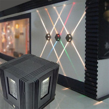 4 Вт Водонепроницаемый наружная светодиодная настенная лампа/Led садовый настенный светильник вверх и вниз Водонепроницаемый IP65 улица проект AC85-265V