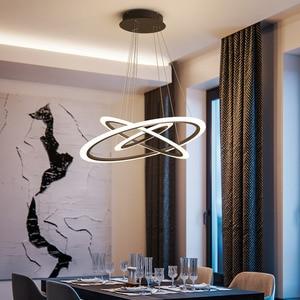 Image 5 - Acrylic Rings led Chandelier hanglamp Chandelier Lighting for living room dining room suspension luminaire modern chandelier