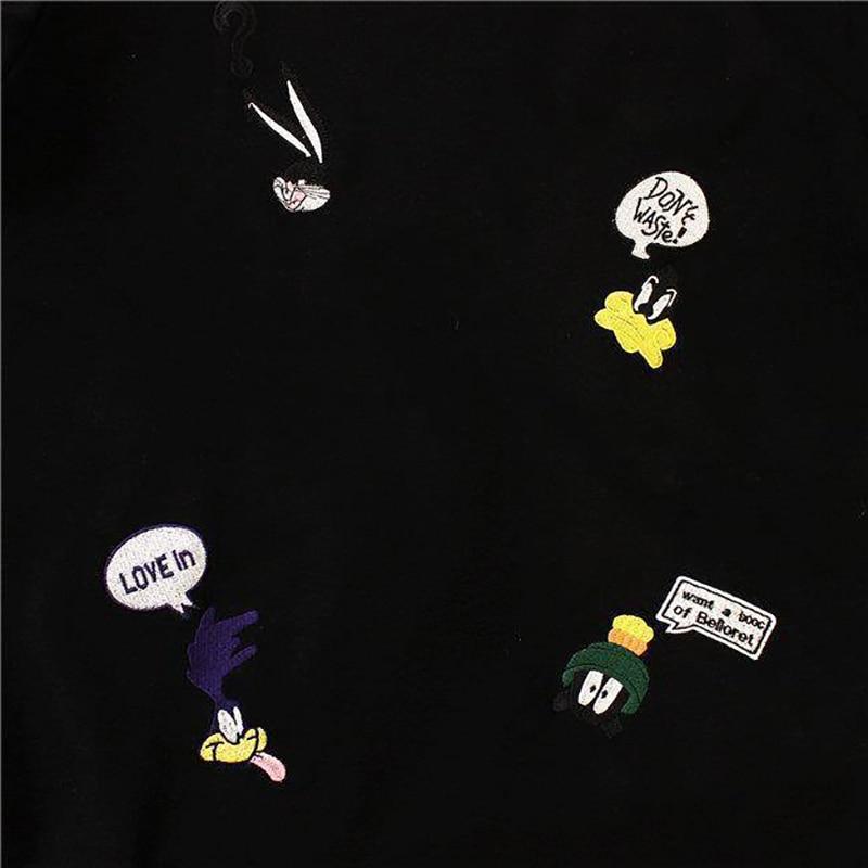Plus Size damskie letnie koszulki 2019 nowy O-Neck z krótkim rękawem Cute Cartoon T-Shirt dla dziewcząt studenci Lady w stylu bf topy Tees 6