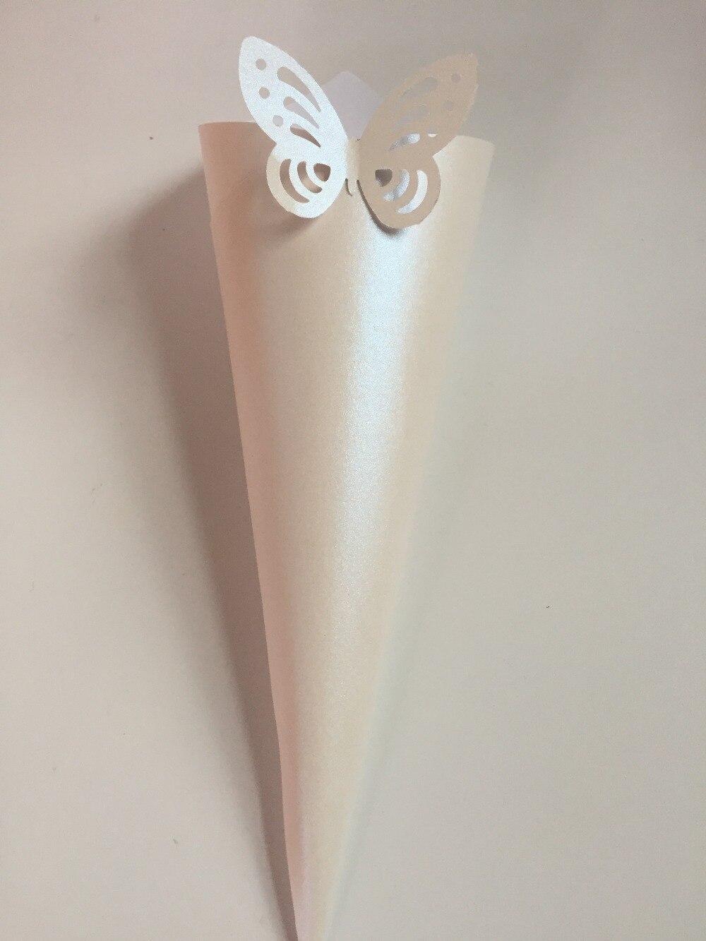 Farfalle Decorative Fai Da Te 50 coriandoli coni pearly farfalle carte di cerimonia