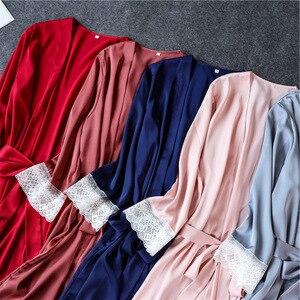 Image 4 - Daeyard Nữ Bộ Đồ Ngủ Gợi Cảm Mùa Hè Áo Pijama 4 Miếng Lụa Bộ Cami Set Ren Áo Dây Nightie Thường Ngày Nhà Phù Hợp Với Đồ Ngủ PJs Bộ
