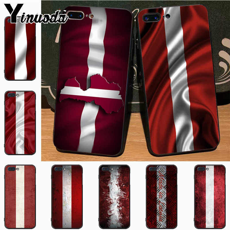Yinuoda Latvia bandera patrón goma tpu Soft Phone accesorios funda para Apple iPhone 8 7 6 6S Plus funda de X 5 5S SE 5C