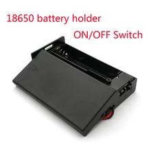 Caja de almacenamiento de batería de plástico negro 18650, 3,7 V, 2x18650, contenedor con 2 ranuras, interruptor de encendido/apagado, novedad