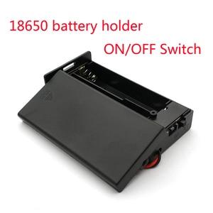 Image 1 - Caja de almacenamiento de batería de plástico negro 18650, 3,7 V, 2x18650, contenedor con 2 ranuras, interruptor de encendido/apagado, novedad