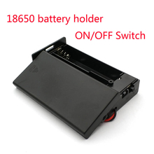 Nowe czarne plastikowe 18650 pudełko na baterie 3.7V do 2x18650 uchwyt baterii Box pojemnik z 2 gniazdami ON/OFF przełącznik