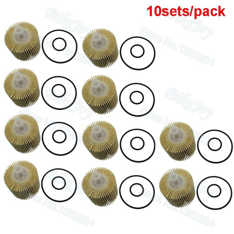 10 Sätze/paket Ölfilter Für Scion Avalon Camry Highlander Venza Toyota 04152-yzza1