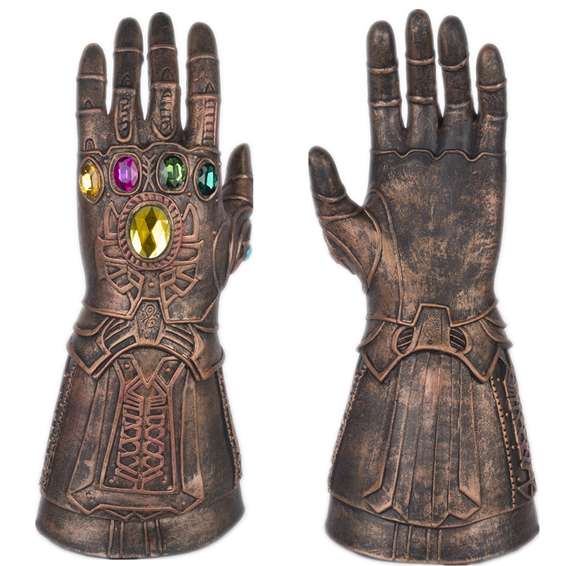 New Movie Avengers: Infinity War Thanos Gloves Cosplay Infinity Gauntlet Hard Latex Gem Armor